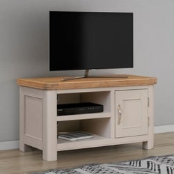 Clarion Oak and Grey Painted Small TV Unit