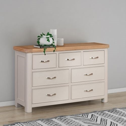 Clarion Oak and Grey Painted 3+4 Drawer Chest