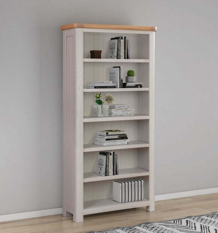 Clarion Oak and Grey Painted Bookcase