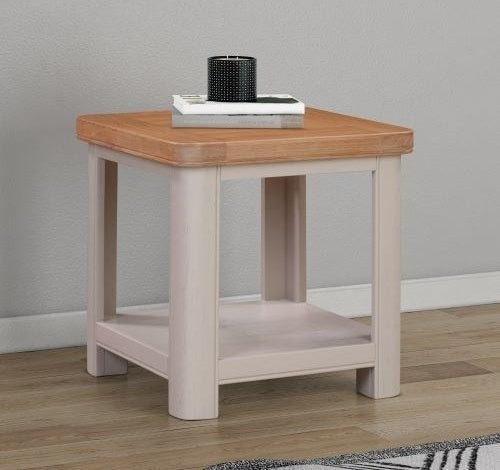 Clarion Oak and Grey Painted Lamp Table