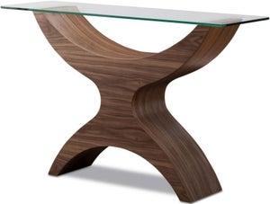 Tom Schneider Atlas Glass Top Console Table