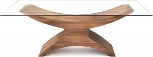 Tom Schneider Atlas Glass Top Medium Dining Table