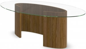 Tom Schneider Ellipse Glass Top Large Dining Table