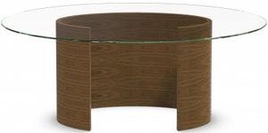 Tom Schneider Ellipse Glass Top Medium Dining Table