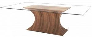 Tom Schneider Estelle Glass Top Large Dining Table