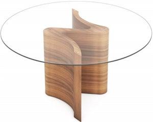 Tom Schneider Serpent Round Glass Top Dining Table