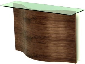 Tom Schneider Wave Glass Top Medium Console Table