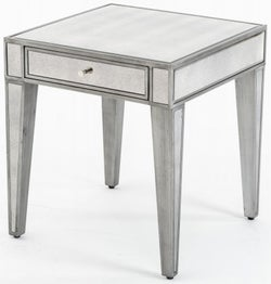 Alhambra French Aged Mirrored Side Table