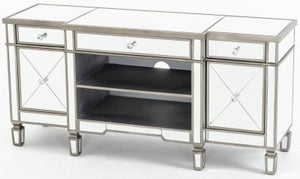 Antoinette Mirrored TV Unit with Champagne Trim