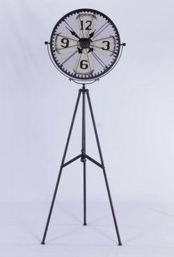 Urban Deco Decorative Black Metal Tripod Clock