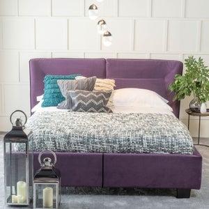 Urban Deco Simba Purple Velvet 4ft 6in Double Bed