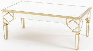 Casablanca Mirrored Coffee Table with Gold Trim