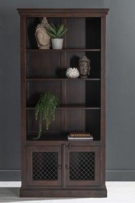 Jali Bookcase with Cupboard Base / Sheesham Wood