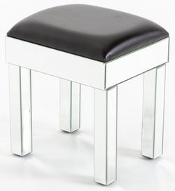 Curved Mirrored Dressing Stool