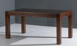 Dakota Indian Mango Wood 120cm Rectangular Dining Table - Dark