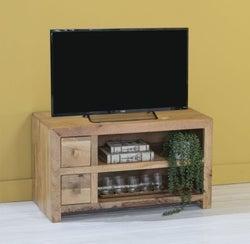 Dakota Indian Mango Wood Small 90cm Plasma TV Unit - Light