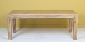 Dakota Indian Mango Wood 160cm Rectangular Dining Table - Light