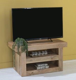 Dakota Indian Mango Wood 110cm Medium TV Unit - Light