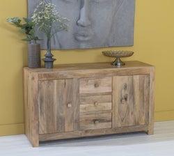 Dakota Indian Mango Wood Kitchen Sideboard - Light