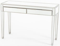 Elysee Mirrored 2 Drawer Dressing Table with Champagne Trim
