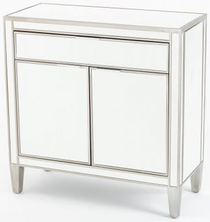 Elysee Mirrored Small Sideboard - 2 Door with Champagne Trim