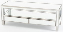 Elysee Mirrored TV Entertainment Unit with Champagne Trim