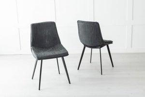 Ezra Metal Black Dining Chair