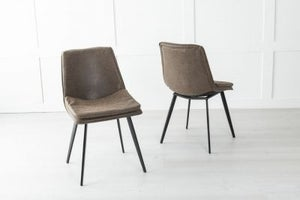 Ezra Metal Brown Dining Chair