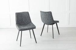Ezra Metal Grey Dining Chair