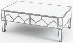 Honeycomb Mirrored 4 Drawer Coffee Table