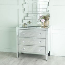 Lucia Mirrored 3 Drawer Chest