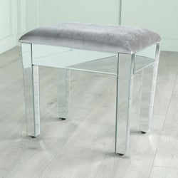 Lucia Mirrored Dressing Stool