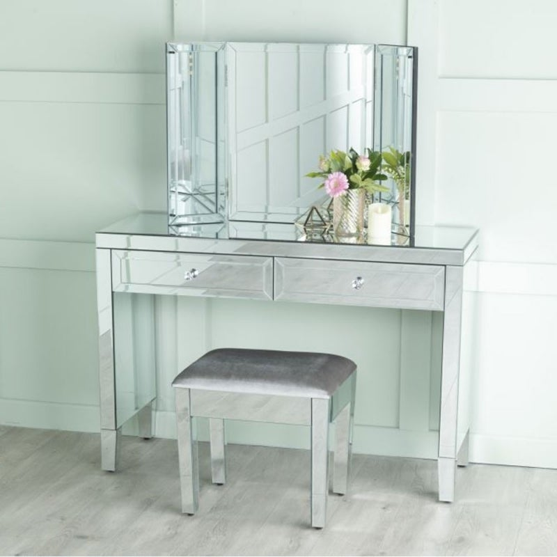 Lucia Mirrored Dressing Cum Console Table