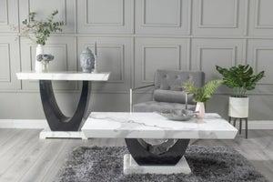 Urban Deco Madrid White Marble Coffee Table