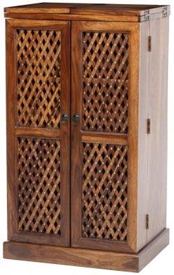 Maharani Sheesham Folding Bar Cabinet