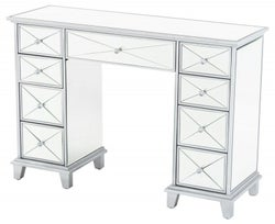 Mayfair Mirrored Kneehole Dressing Table - 9 Drawers