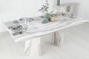 Urban Deco Midas 180cm Grey Marble Dining Table