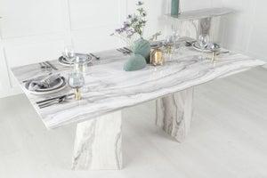 Urban Deco Midas 200cm Grey Marble Dining Table