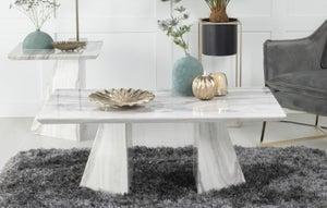 Urban Deco Midas Grey Marble Coffee Table