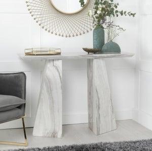 Urban Deco Midas Grey Marble Console Table