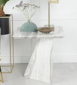 Urban Deco Midas Grey Marble Lamp Table