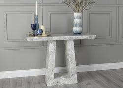 Urban Deco Milan Grey Marble Console Table