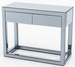 Moda Smoke Mirrored 2 Drawer Dressing Table