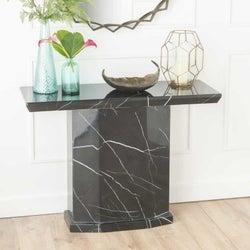 Urban Deco Naples Black Marble Console Table