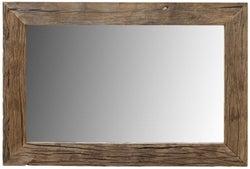 Railway Sleeper Wood Wall Mirror