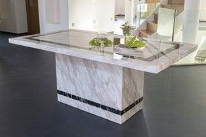 Urban Deco Rome 160cm Cream Marble Dining Table