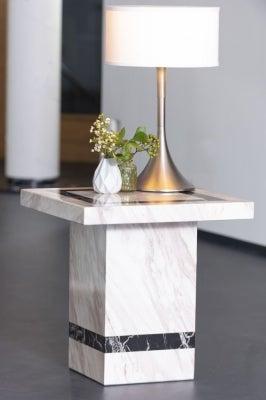 Urban Deco Rome Cream Marble Lamp Table