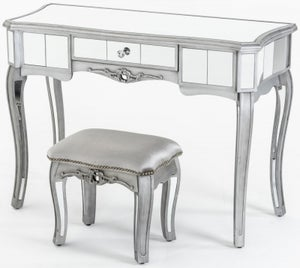 Tiffany French Mirrored 1 Drawer Dressing Table
