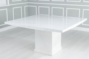 Urban Deco Turin 140cm White Marble Dining Table