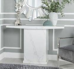 Urban Deco Turin White Marble Console Table